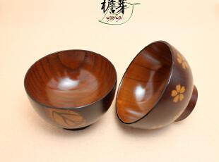 2012新款儿童木碗 出口日本龙凤胎米饭碗 无毒天然树漆 宝宝碗,碗盆,