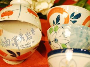 loly 日式和风5头瓷碗餐具套装 厨房釉下彩其他图案5个装礼盒,碗盆,