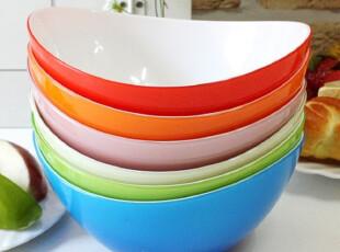 【韩国进口】R857 彩虹波浪色拉碗 六色可选,碗盆,