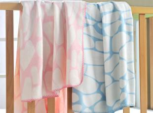 艾娜骑士 纯棉婴儿毯子 宝宝毛毯夏季盖毯童毯 长颈鹿纹,空调毯,