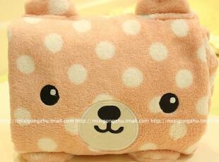 米西公主 正版梨花熊 多功能 夏用 超柔珊瑚绒毯子 空调毯 毛毯,空调毯,