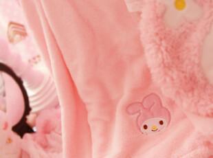 甜美粉色Melod*小兔绒毯OR浴袍+抱枕套装PH,空调毯,