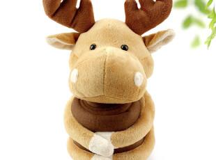 ABS爱彼此 时尚多用公仔毯--驯鹿空调毯 抱枕头靠垫靠枕两用毛毯,空调毯,
