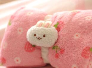 原单mothergarden小草莓 珊瑚绒毯 薄毛毯 空调毯,空调毯,
