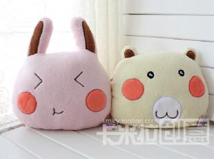 可爱胭脂兔/小熊珊瑚绒车载靠垫/抱枕/空调被/毛毯/空调毯,空调毯,