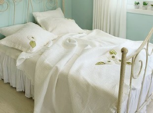 韩国正品代购 夏用被 薄被白色衍缝空调被三件套,空调毯,