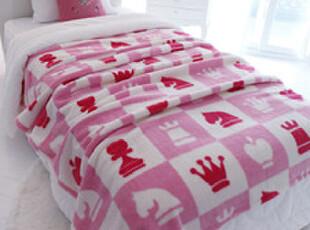 ★公主梦想★韩国家居*国际象棋*极细丝柔软舒适绒毯盖毯W2195,空调毯,