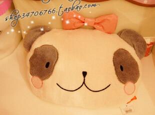 超有爱の熊猫靠枕~展开变绒毯哦^^PH,空调毯,