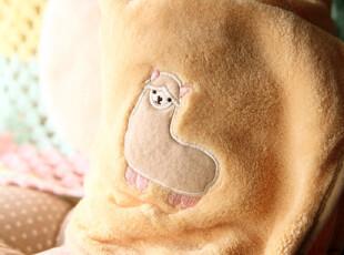 日本 舒适双面绒 羊驼收纳型空调毯 抱枕靠枕多用,空调毯,
