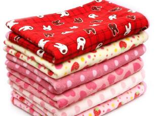 1.12草莓半塘草莓波点多款选宝宝床垫休闲毯/毛毯/绒毯4288 0.4kg,空调毯,
