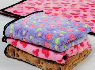 o[潮品97折] 珊瑚绒宠物被子毛巾毛毯 保暖狗被子 超柔软b,空调毯,