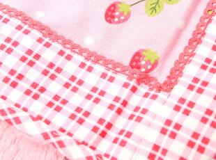 Mother garden 田园草莓柔软双层棉两面毛毯/膝盖毯 3008 0.25kg,空调毯,