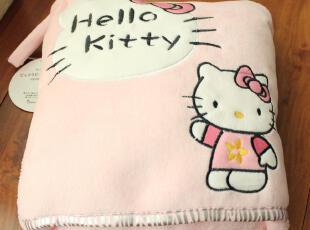 可爱KT毛毯夏用薄毯/空调毯/可折叠收纳/抱枕毯子 珊瑚绒毯子,空调毯,