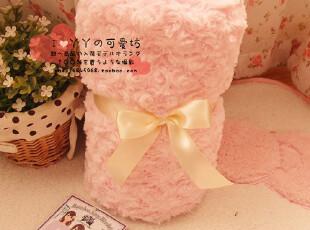日单 温暖舒适の玫瑰绒 小毛毯 空调毯 有纽扣可做披肩 ~!很实用,空调毯,