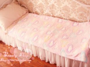 ♥甜蜜冰淇淋淡彩桃心珊瑚绒毯床单 多尺寸入♥PH,空调毯,