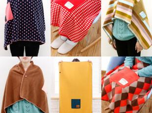 【雯の屋】韩国Monopoly 优雅办公毛毯 空调毯 口袋披肩-8色选,空调毯,