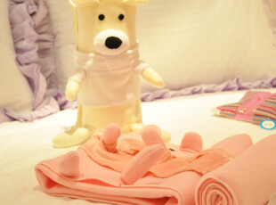 淘金币 狗狗折叠空调毯 空调被 办公室午睡毯 可爱卡通抱枕 毛绒,空调毯,
