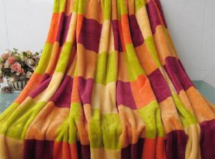 外贸原单 超柔加厚珊瑚绒毯 午睡空调毯子 格子小毛毯 特价包邮,空调毯,