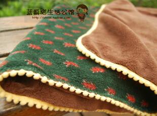 外贸欧单 北欧风双层珊瑚绒小毛毯子 秋冬空调盖毯上网毯 婴儿毯,空调毯,