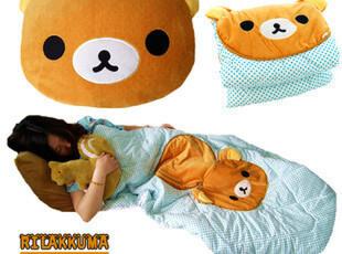 轻松小熊空调被 轻松熊空调毯 抱枕两用夏凉被 折叠两用,空调毯,