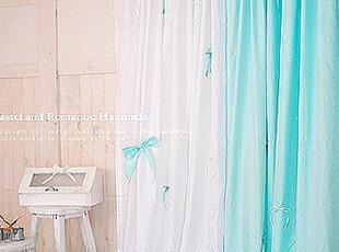 ★公主梦想★在韩国定做*蝴蝶结自选色*浪漫窗帘M1862薄荷,窗帘,