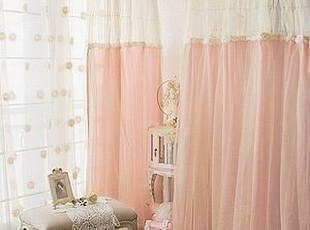 韩国定做 粉色浪漫小天鹅蛋糕纱窗帘客厅 卧室窗帘 可定做,窗帘,