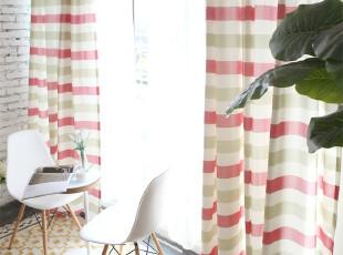 吉屋 贝卡粉 窗帘 布艺 成品 客厅 卧室 飘窗 田园 高档 可定制,窗帘,