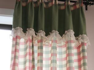 【红芭乐】樱庭布艺 小清新 格子 帘头 特价 窗帘 卧室 客厅 阳台,窗帘,