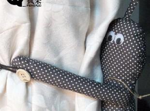 疯果正品|hoohoo|创意家居礼物|小长腿窗帘扣|外贸卡通|窗帘绑带,窗帘,