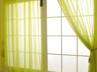 三唯一居 简约纯色窗纱 纱帘 成品 客厅 高档 卧室 书房 窗帘面料,窗帘,
