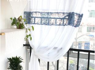 [慢素mansu]心生兰花。地中海窗帘浪漫蕾丝棉布帘 定做,窗帘,