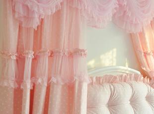 【MUYEE HOME】布艺窗帘【波点控】梦幻纱帘公主风韩版,窗帘,