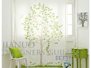 日韩独幅成品帘 韩式绿,蓝,粉色树纯棉宜家门帘 可爱清新外贸窗帘,窗帘,