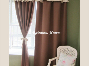 韩式成品窗帘 遮光布窗帘 全遮光窗帘 卧室客厅遮光窗帘 拼接窗帘,窗帘,