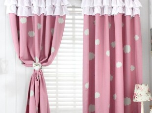 【Asa room】韩国进口代购 粉色云朵短款遮光成品卧室窗帘k447-p,窗帘,