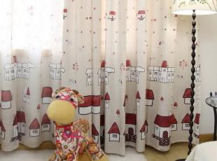 【宜居优品】儿童房窗帘成品 童话中的小屋 全棉雪尼尔,窗帘,