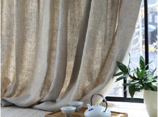 [慢素mansu]佛说。日单森系纯雨露麻窗帘 定做定制,窗帘,