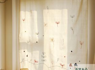 棉麻鲁绣田园风格遮光窗帘 布帘 外贸 儿童房布艺A16 美式乡村风,窗帘,