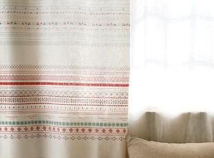 波西米亚十字绣花边木马房子织带窗帘桌布门帘手工棉麻diy布料,窗帘,