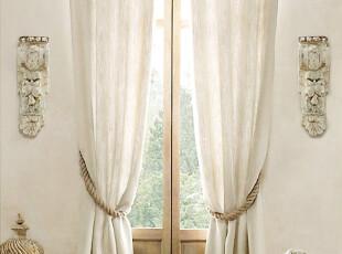 高级精品法国亚麻客厅卧室书房窗帘定制 布艺沙发定制 本白色,窗帘,