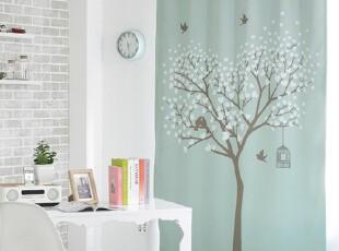 【Asa room】韩国窗帘进口 蓝色相思树成品卧室客厅遮光 k459-b,窗帘,