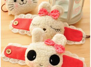 可爱卡通蕾丝 熊猫兔子猫咪 毛绒公仔窗帘夹窗帘扣窗帘绑带,窗帘,