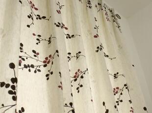 包邮 地中海田园风格 高档棉麻卧室阳台窗帘布艺定制 韩国相思树,窗帘,
