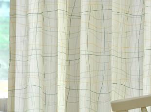 【雅格条纹】地中海风格宜家高档卧室客厅书房成品窗帘布艺特价,窗帘,