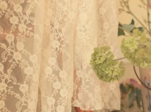 直供韩国蕾丝网纱  复古花环  外贸窗帘 (50*145),窗帘,