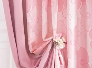 【韩国进口窗帘】B104 甜蜜之家 精致印花粉色窗帘 三色可选,窗帘,