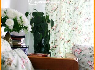 [慢素mansu] 绿荫玫瑰。加厚纯棉帆布料 窗帘定做定制,窗帘,