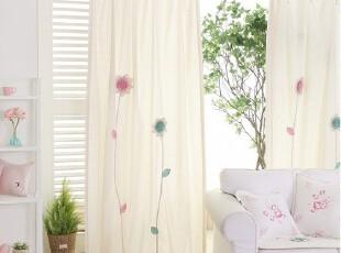 『韩国进口家居』X557  精致手工立体花朵单幅清爽窗帘,窗帘,