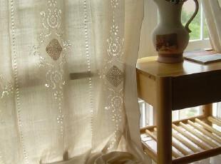 雅歌~~希腊棉麻钩针窗帘(180*260) 新增了滑轨挂钩式,窗帘,