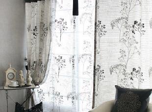 新款推荐:棉麻仙人树窗帘布 精品时尚窗帘/韩版风格/客厅推荐,窗帘,